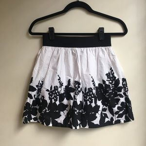 New Forever 21 Shadow Floral Print Cotton Skirt